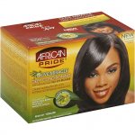 AFRICAN PRIDE OLIVE MIRACLE RELAXER, NO LYE, DEEP CONDITIONING ANTI-BREAKAGE, REGULAR 1 KIT