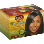 AFRICAN PRIDE OLIVE MIRACLE RELAXER, NO LYE, CONDITIONING ANTI-BREAKAGE, SUPER| 1KIT