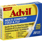 ADVIL COLD & FLU, MULTI-SYMPTOM, COATED TABLETS 20CT
