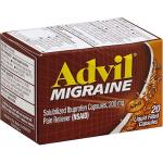 ADVIL MIGRAINE IBUPROFEN, SOLUBILIZED, 200 MG, LIQUID FILLED CAPSULES 20CT
