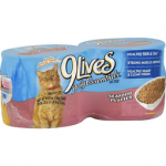9 LIVES CAT FOOD, SEAFOOD PLATTER, MEATY PATE 4Pk