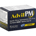 ADVIL PM PAIN RELIEVER (NSAID)/NIGHTTIME SLEEP-AID, COATED CAPLETS 20CT