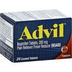 ADVIL IBUPROFEN, 200 MG, COATED TABLETS 24ct