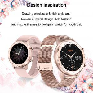 Luxury fashion ladies smartwatch