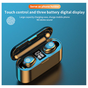 Wireless Earphone Bluetooth Headphones TWS 5.1 Touch Headsets 9D Sound Earburds With LED Display Power Bank