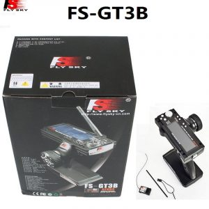 Flysky FS-GT3B FS GT3B 2.4G 3CH Gun RC System Transmitter with GR3E Receiver For RC Car Boat with LED Screen