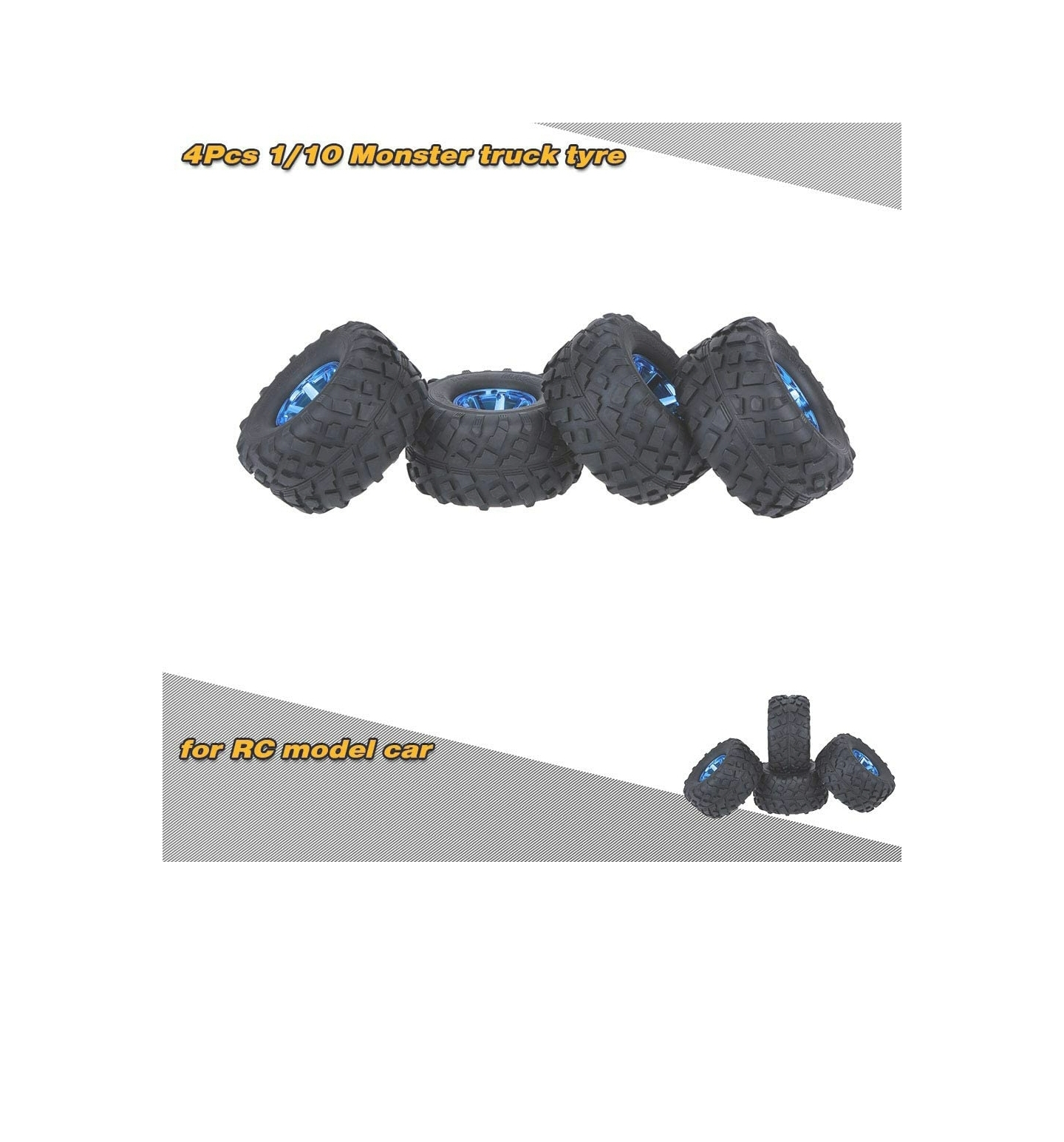 GoolRC 4PCS/Set 1/10 Monster Truck Tire Tyres for Traxxas, HSP, Tamiya, HPI, Kyosho, RC Model Car