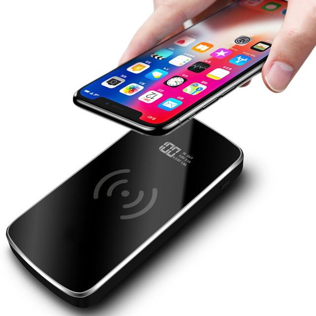 Qi Wireless Charger Power Bank 50000mAh USB Portable Fast Powerbank Charging Pad